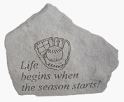 Kay Berry- Inc. 70206 Baseball-Life Begins When The Season Starts - Great Thoughts - 5.25 Inches x 5 Inches