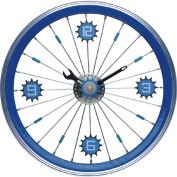 Maples LFT-16-BU Bike Wall Clock - With Blue Aluminium Rim