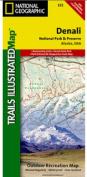 National Geographic TI00000222 Map Of Denali National Park And Preserve - Alaska