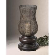 Uttermost 19290 Rickma- Candleholder - Metal And Mdf