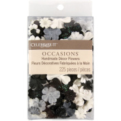 Prima Flowers CIFC71-5212 Celebrate It Handmade Paper Flower Confetti 225-Pkg-Black White and Grey Mix