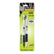 F/M-301 Stainless Steel Ballpoint and Mechanical Pencil Set, 2pk