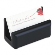 Rolodex 62522 Wood Tones Business Card Holder Capacity 50 2 1/4 x 4 Cards Black