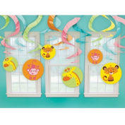 Amscan 200409 Fisher Price Baby Shower Hanging Swirl Decorations