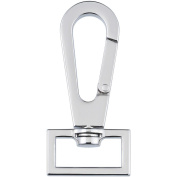 Clover 93377 Nancy Ziemans Bag Hardware 2.5cm . Swivel Latch 1-Pkg-Glossy Nickel