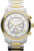 Michael Kors MK8283 Mens Chronograph Two Tone Stainless Steel Case and Bracelet Silver Tone Dial Date Display
