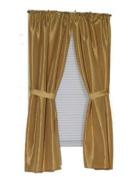 Carnation Home Fashions SWC-L/02 Lauren 90cm x 140cm Dobby Fabric Window Curtain - Gold