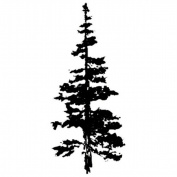 Art Impressions G3237 Art Impressions Wilderness Series Cling Rubber Stamp-Mountain Fir
