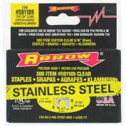 Arrow Fastener Co. .80cm . X .80cm . Black T59 Stainless Steel Staples 591189SS