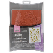 Sizzix 657772 Sizzix Textured Impressions Embossing Folder and Stamp Set-Hero Arts Silhouette Vines