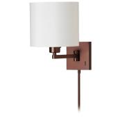Dainolite DMWL112-OBB 1 Light Cast Metal Swing Arm Lamp - Oil Brushed Bronze