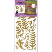 Hot Off The Press DAZ-2111 Dazzles Stickers -Ferns Gold