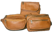 David King& Co 409T Large Double Pocket Waist Pack- Tan