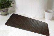 Carnation Home Fashions TM-D/13 28 in. x 16 in. Rubber Bath Tub Mat - Brown