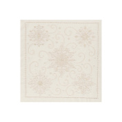 Janlynn Snowflakes Candlewicking Embroidery Kit, 36cm x 36cm