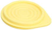 Lexington D091111-01-YEL Small Silicone Foldable Storage Bowl with Cover - Yellow