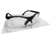 SAS Safety SAS541-2500 Sidewinders Safety Glasses with Black Frames and 2.5 Readers Lens