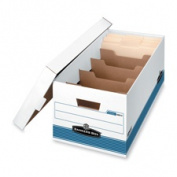 Fellowes Mfg. Co. FEL0083101 Stor-File Dvdr Box- w-Locking Lid- 12-.220cm .x60cm .x10-.60cm .- WE-BE