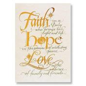 Abbey Press 14cm x 20cm Faith, Hope, Love Christmas Cards