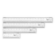 Acme United Corporation ACM10564 Plastic Ruler- 46cm . Long- Clear