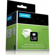Dymo 30253 2-UP LabelWriter Address Labels 3-1/2 x 1-1/8 White 700 Lbls/Roll 1 Roll/Box