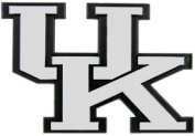 Caseys Distributing 8162002922 Kentucky Wildcats Silver Auto Emblem