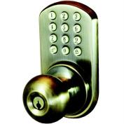 Morning Industry Inc HKK-01AQ Touchpad Electronic Door Knob, Antique Brass