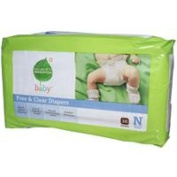 Seventh Generation Baby Nappies Chlorine Free Newborn Up to 4.54kg. 36 count 220954
