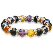 Alexander Kalifano BLUE-BGG-05 Gorgeous Glass Bracelets - Black - Purple - Gold