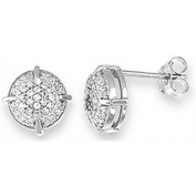 Doma Jewellery DJS02132 Sterling Silver (Rhodium Plated) Earring with CZ