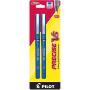 Pilot Pen Corporation 2 Count Blue Precise V5 Rolling Ball Pen 25002 - Pack of 6