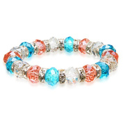 Alexander Kalifano BLUE-BGG-16 Gorgeous Glass Bracelet - Multi-Coloured