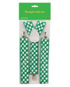St. Patrick's Day Shamrock Suspenders