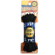 Shoe Gear 375108 140cm . Waxed Boot Laces - Black and Black