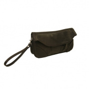 Piel Leather 2885-CHC Clutch-Large Wristlet - Chocolate