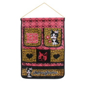 Blancho Bedding BN-WH010 Cat and Heart Coffee/ Wall Hanging/ Wall Organizers / Wall Baskets / Baskets