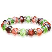 Alexander Kalifano BLUE-BGG-06 Gorgeous Glass Bracelet - Multi-Coloured