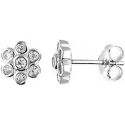 Doma Jewellery DJS02113 Sterling Silver (Rhodium Plated) Earring with CZ
