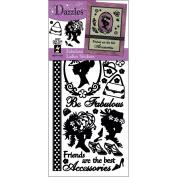 Hot Off The Press DAZ-1618 Dazzles Stickers -Fabulous Ladies