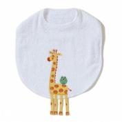 Giraffe Funny Friends Bib by The Little Acorn