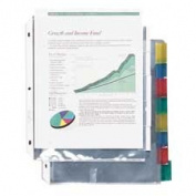 C-Line Products- Inc. CLI05587 Top Load Sheet Protector- 8 Tab- 8-.130cm .x28cm .- Clear