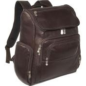 Entrepreneur Multi-Pocket Laptop Backpack in Chocolate