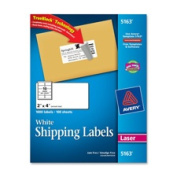 Avery Consumer Products AVE5164 Laser Labels- Mailing- Permanent- 3-.80cm .x10cm .- White