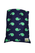 Itzy Ritzy Wet Happened Zippered Wet Bag Whale Watching