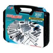 """132 Pc. Mechanic's Tool Set, Chrome Vanadium, 3/16""""-3/4"""", 4mm-19mm, Metric/SAE"""
