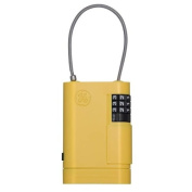 GE Security 001941 Portable Stor-A-Key in Yellow with Adjustable Cable