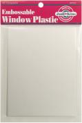 Embossable Window Plastic Sheets 11cm x 14cm 20/pkg, Clear