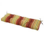 Greendale Home Fashions 4805-Kinnabari 46 inch Outdoor Swing-Bench Cushion Kinnabari Stripe