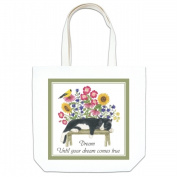 Alices Cottage AC17444 Cat on Bench Large Tote