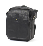 Claire Chase 407E-black Classic Man Bag - Black
